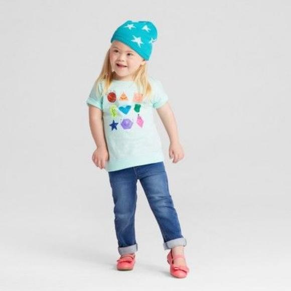 e5b0f78a2a7 Cat & Jack Shirts & Tops | New Cat Jack Girls Shapes Mini Capsleeve ...